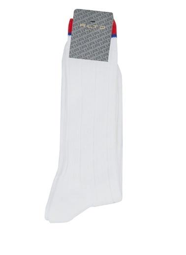 Alto Socks Alto Socks  Çizgi Dokulu Erkek Çorap 101643915 Beyaz